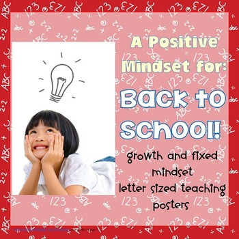 Free Growth and Fixed Mindset Back to School Letter Size Posters