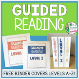 Free Guided Reading Binder Covers for Levels A-Z