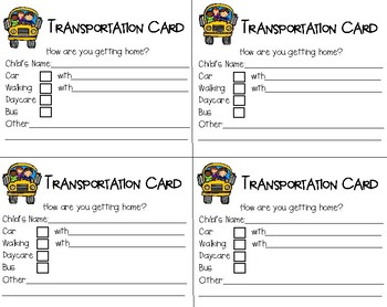 Transportation Card
