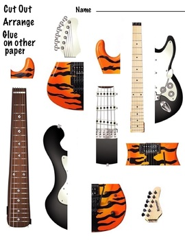 Guitar Puzzles - One Page - Organic shapes