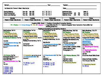 Houghton Mifflin 1st Grade Reading Lesson Plan-Mac the Cat, Free