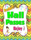 Free Hall Passes Glitter Theme