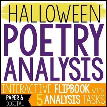 Free Halloween Activity - Halloween Poem Analysis and Flip Book