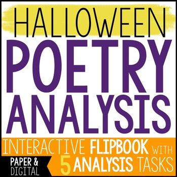 Free Halloween Activity - Halloween Poem Analysis and Flip Book