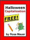 Free Halloween Activity Proofreading for Correct Capitalization