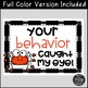 Free Halloween Behavior Management Sign