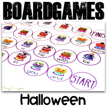 Free Halloween Boardgames {FRY Sight Words}