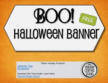 Free Halloween Boo banner