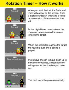 Free Halloween Center Rotation Timer Teacher Tool for Interactive Whiteboards