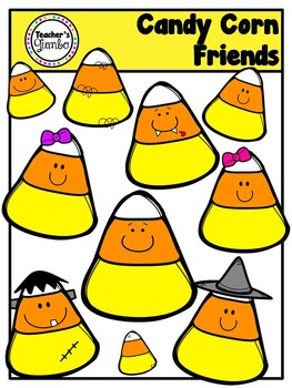 Candy Corn Friends Halloween Clipart