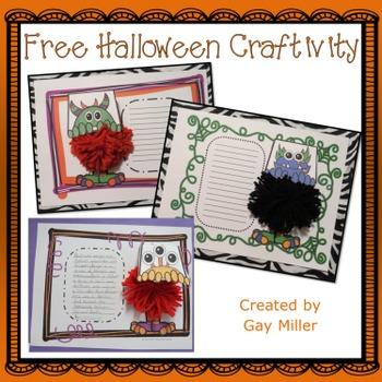 Free Halloween Craftivity