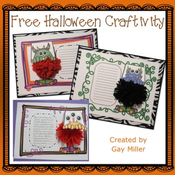 Free Halloween Craftivity
