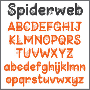 Free Halloween Font: Spiderweb (True Type Font) by Jackie G | TpT