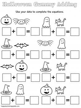 Free Halloween Gummy Math