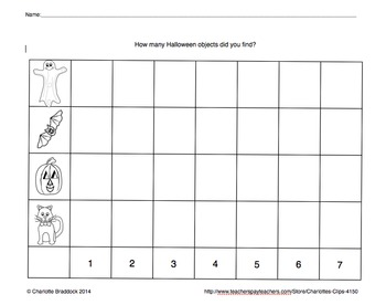 Free Halloween Haunted House Graphing Printable from Charlotte's Clips
