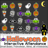 Halloween Activities Interactive Attendance for All Whiteboards and Smartboards