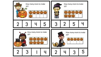 Free Halloween Making 10 with Ten Frames and Ten Frame Mats