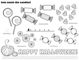 Free Halloween Math Fun Count Candies Kids Colouring Template Printable Image