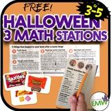 Free Halloween Math Stations Sorting Estimating Writing