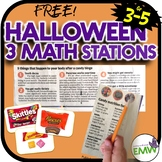Free Halloween Math Stations Sorting Estimating Writing
