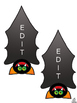 Free Halloween Name Tags and Locker Labels, Editable