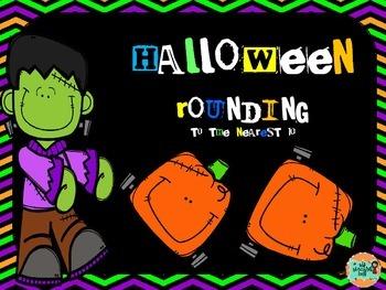 Free Halloween Rounding Math Center