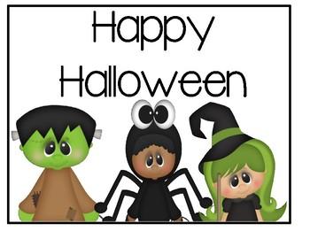 Free Halloween Signs/Cute Gift Idea