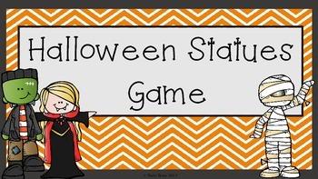 **Free** 'Halloween Statues' Game Instructions- Happy Halloween!!