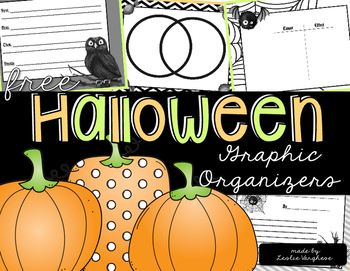 Free Halloween Themed Reading Graphic Organizers
