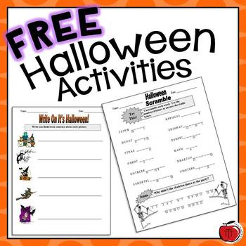 Free Halloween Worksheets by TchrBrowne | Teachers Pay Teachers