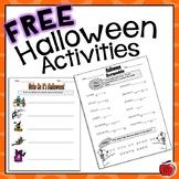Free Halloween Worksheets