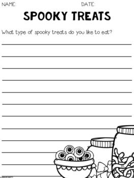 Free Halloween Writing