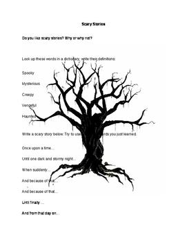Halloween Writing Worksheet