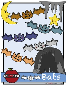Free Halloween bats cliparts