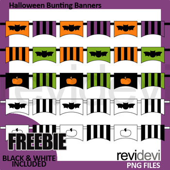 Free Halloween clipart for Halloween activities / Bunting Banners Clip Art