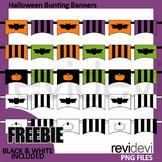Free Halloween clipart for Halloween activities / Bunting