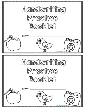Handwriting Practice Booklet for Pre-K-1