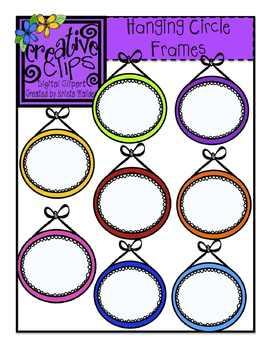 {Free} Hanging Circle Frames {Creative Clips Digital Clipart}