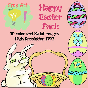 Free 'Happy Easter' cliparts set