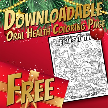 Free Happy Holidays Oral Health Coloring Search & Find Activity Page