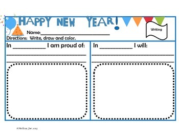 Free Happy New Year Activites for 2nd Grade
