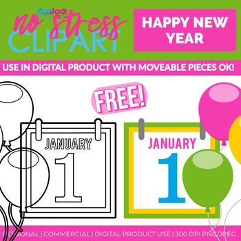 free happy new year clip art digital use ok