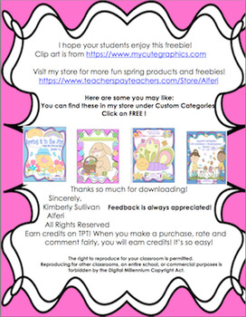 Free Downloads Happy Spring Math Printable! Early Finishers!