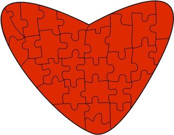 Free Heart Puzzles Clip Art