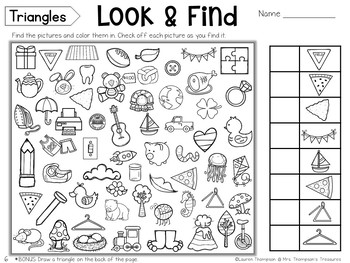 Free Hidden Picture Activities by Mrs Thompson's Treasures ...