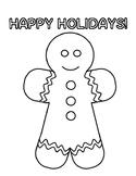 Holiday Activities Gingerbread Holiday Coloring Holiday Gingerbread Coloring