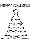 Free Holiday Activities Free Holiday Tree Coloring Page Holiday Free!