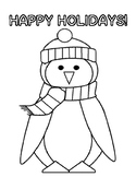 Free Holiday Activities Free Penguin Coloring Page Holiday Free!