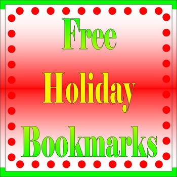 Free Holiday Bookmarks