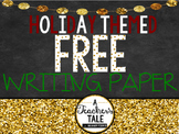 Free Holiday/Christmas Themed Writing Paper
